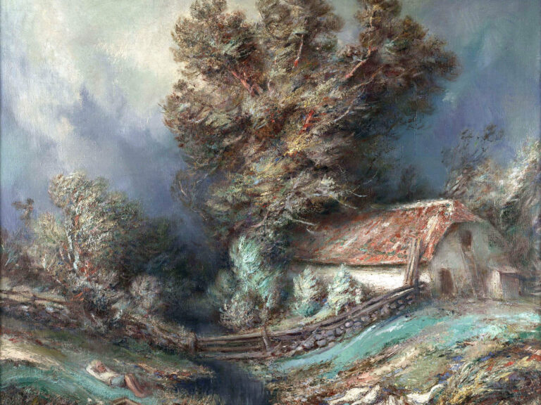 Johannes Võerahansu Maastik hanedega